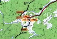 Топографическая карта. Меландово
