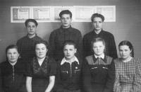 1954 год. Лыжники Емецкого района заняли 2-е место на областных соревнованиях