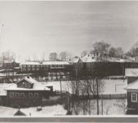 Вид на старую школу и интернат