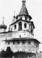 На фото: Храм-колокольня. Вид с северо-западной стороны. Начало XX века