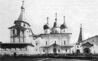 Вид на центральный ансамбль Антониево-Сийского монастыря. Начало ХХ века.