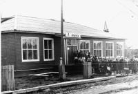 Открытие магазина в пос. Двинском 20 апреля 1976 г.