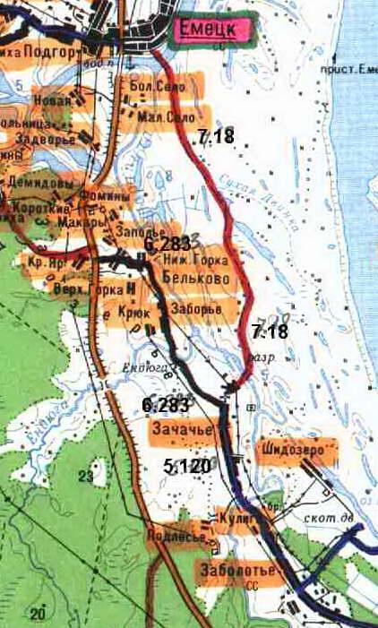 Топографическая карта. Зачачье